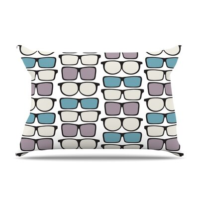 Spectacles Geek Chic by Michelle Drew Featherweight Pillow Sham Size: Queen, Fabric: Woven Polyester