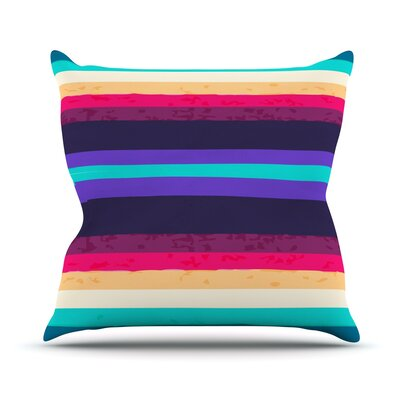 Throw Pillow Color: Surf Stripes, Size: 26 H x 26 W