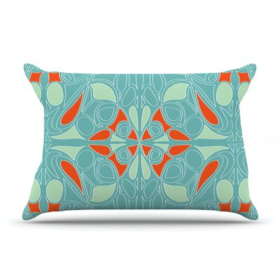 Seafoam and Orange by Miranda Mol Featherweight Pillow Sham Size: Queen, Fabric: Woven Polyester
