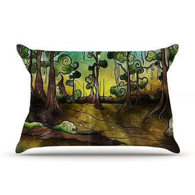 Aligator Swamp by Mandie Manzano Featherweight Pillow Sham Size: Queen, Fabric: Woven Polyester