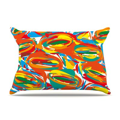 Go Left Crazy by Matthias Hennig Featherweight Pillow Sham Size: Queen, Fabric: Woven Polyester