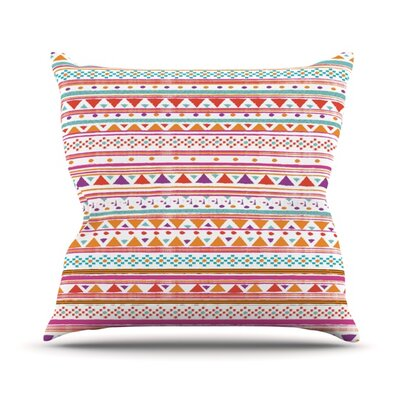 Native Bandana Outdoor Throw Pillow Size: 18 H x 18 W x 3 D