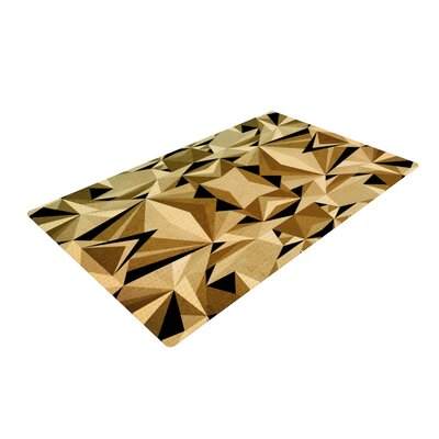 Nika Martinez Abstraction Yellow/Gold Area Rug Rug Size: 2 x 3