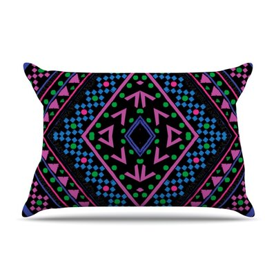 Neon Pattern by Nika Martinez Featherweight Pillow Sham Size: King, Fabric: Woven Polyester