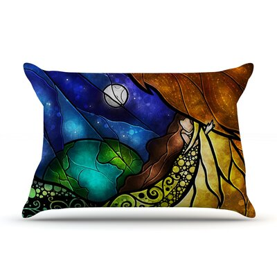 Psalms by Mandie Manzano Featherweight Pillow Sham Size: King, Fabric: Woven Polyester