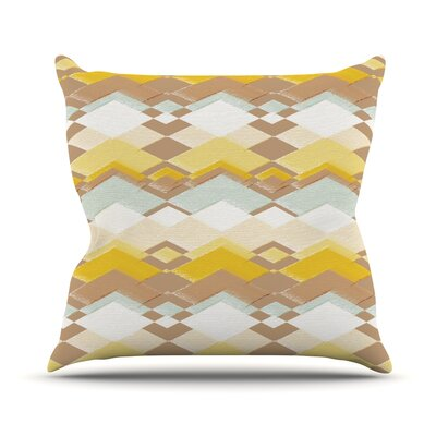 Retro Desert Throw Pillow Size: 18 H x 18 W