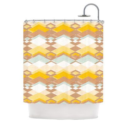Retro Desert Shower Curtain