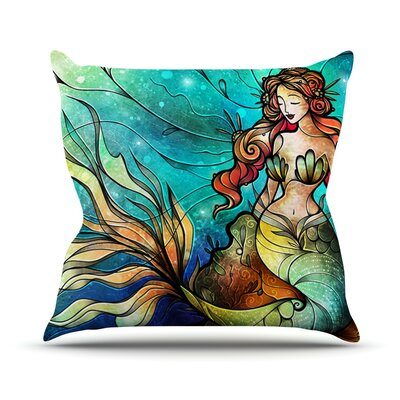 Serene Siren Throw Pillow Size: 18 H x 18 W