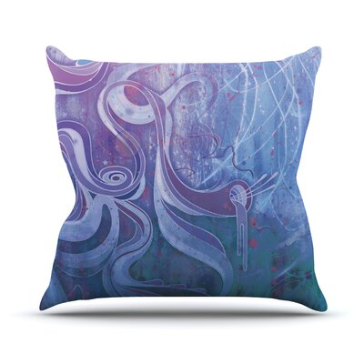 Throw Pillow Size: 18 H x 18 W, Color: Electric Dreams II