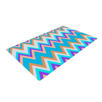 Nika Martinez Girly Surf Chevron Blue/Purple Area Rug Rug Size: 2 x 3