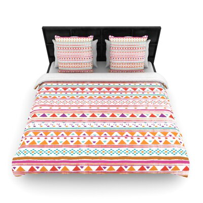 Native Bandana Woven Comforter Duvet Cover Size: King