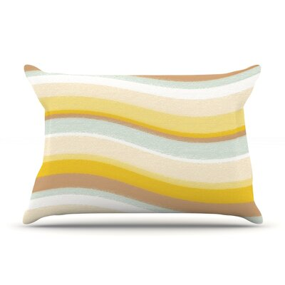 Desert Waves by Nika Martinez Featherweight Pillow Sham Size: Queen, Fabric: Woven Polyester