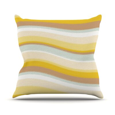 Desert Waves Throw Pillow Size: 18
