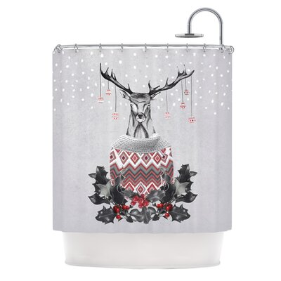 Christmas Deer Snow Shower Curtain