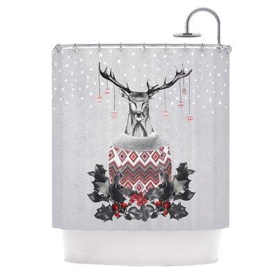 Christmas Deer Snow Shower Curtain