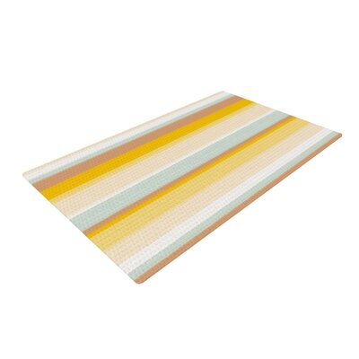 Nika Martinez Desert Stripes Yellow/Blue Area Rug Rug Size: 2 x 3
