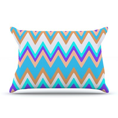 Girly Surf Chevron Pillow Case Size: Standard