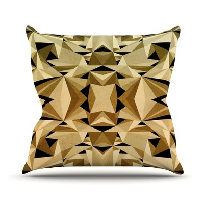 Abstraction Throw Pillow Size: 16 H x 16 W, Color: Gold and Black