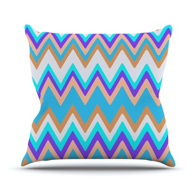 Girly Surf Chevron Throw Pillow Size: 18 H x 18 W