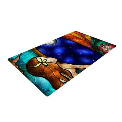 Mandie Manzano I Miss You Blue/Brown Area Rug Rug Size: 4 x 6