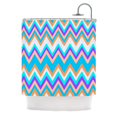 Girly Surf Chevron Shower Curtain