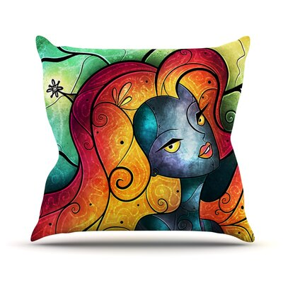 Andromeda Throw Pillow Size: 26 H x 26 W
