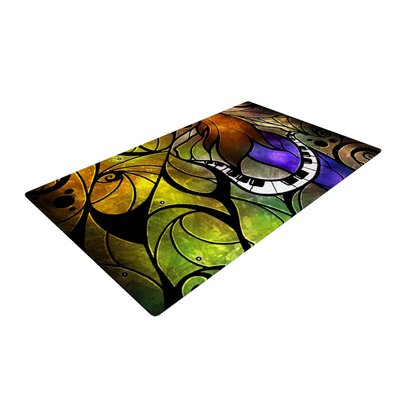 Mandie Manzano So This is Love Black/Purple Area Rug Rug Size: 2 x 3