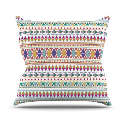 Native Fiesta Throw Pillow Size: 16 H x 16 W