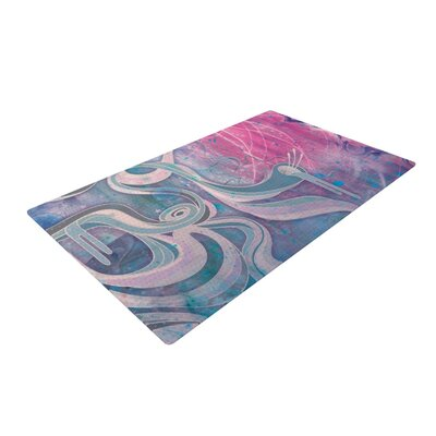 Mat Miller Electric Dreams Blue/Pink Area Rug Rug Size: 4 x 6