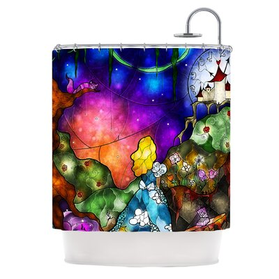 Fairy Tale Alice in Wonderland Shower Curtain