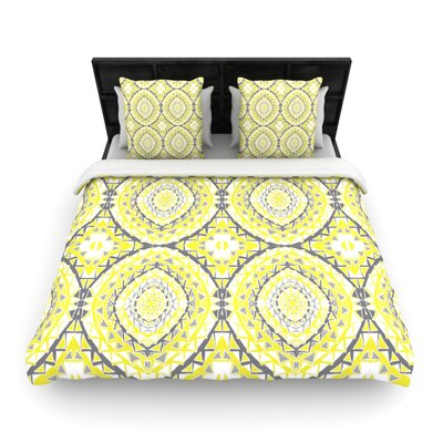 Yellow Tessellation Woven Comforter Duvet Cover Size: Twin