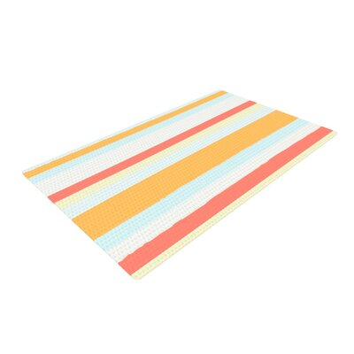 Nika Martinez Sand Stripes Red/Orange Area Rug Rug Size: 4 x 6