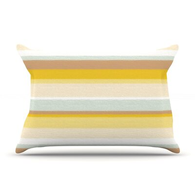 Desert Stripes Pillow Case Size: King