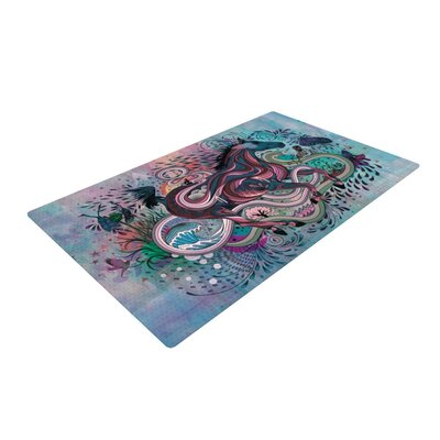 Mat Miller Poetry in Motion Blue/Red Area Rug Rug Size: 2 x 3