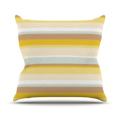 Desert Stripes Throw Pillow Size: 16 H x 16 W