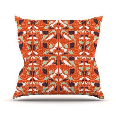 Orange Swirl Kiss Throw Pillow Size: 16 H x 16 W