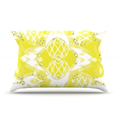 Citrus Spritz by Miranda Mol Featherweight Pillow Sham Size: King, Fabric: Woven Polyester