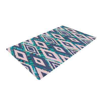 Nika Martinez Tribal Ikat Pattern Blue Area Rug Rug Size: 4 x 6