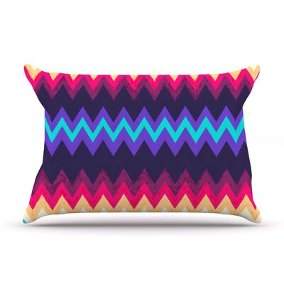 Surf Chevron Pillow Case Size: Standard