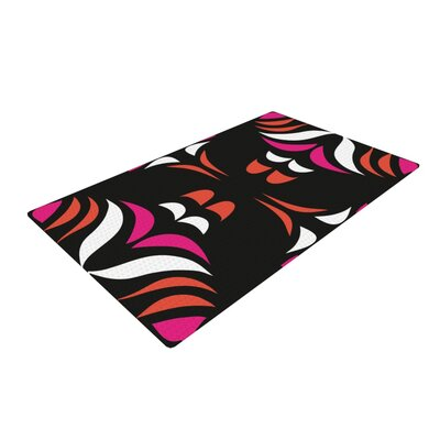 Miranda Mol Hawaiian Retro Magenta/Orange Area Rug Rug Size: 4 x 6