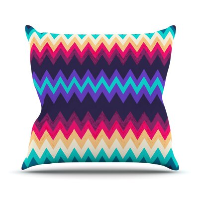 Surf Chevron Throw Pillow Size: 18
