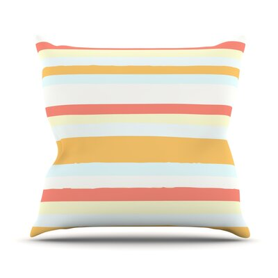 Throw Pillow Size: 26 H x 26 W, Color: Sand Stripes