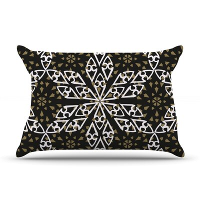Ethnical Snowflakes by Miranda Mol Featherweight Pillow Sham Size: King, Fabric: Woven Polyester