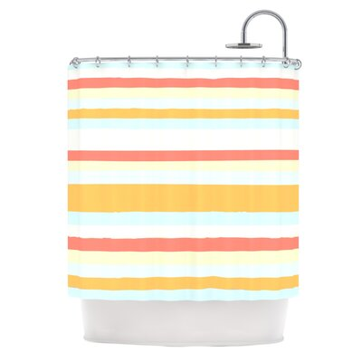 Shower Curtain Color: Sand Stripes