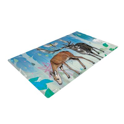 Mat Miller Glade Blue/Brown/White Area Rug