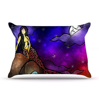 Fairy Tale Little Mermaid Pillow Case Size: Standard