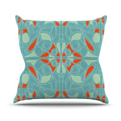 Seafoam and Orange Throw Pillow Size: 16 H x 16 W