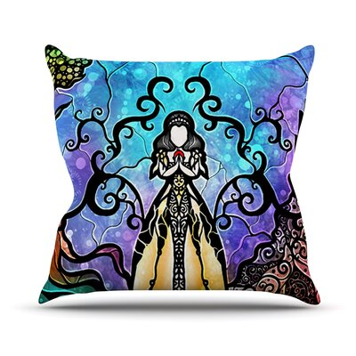 One Little Bite by Mandie Manzano Throw Pillow Size: 18 H x 18 W x 3 D