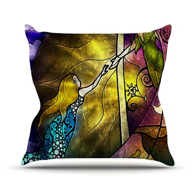 Fairy Tale off to Neverland Outdoor Throw Pillow Size: 18 H x 18 W x 3 D