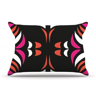 Magenta Orange Hawaiian Retro Pillow Case Size: Standard